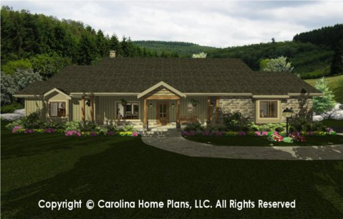 MS-2102 Sophisticated Rustic House Plan