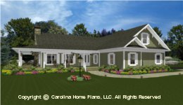 MS-2138-AC House Plan with Garage