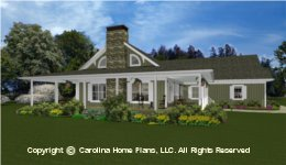 MS-2138-AC Midsize Porch House  Plan