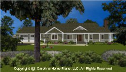 MS-2283-AC House Plan with Garage