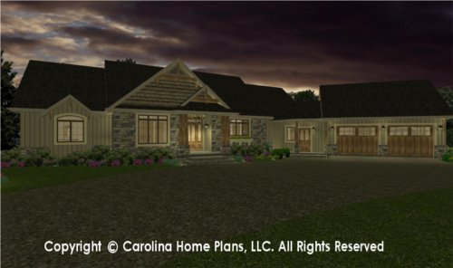 MS-2379 Sophisticated Rustic House Plan