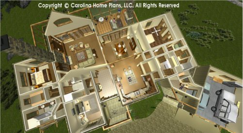 MS-2379 Split Bedroom House Plan