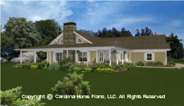 MS-2390 Midsize Porch House  Plan