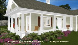 SG-1660  Wrap-around Porch Houseplan