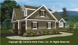 SG-1096 House plan with Garage