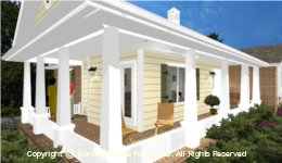 SG-1132  Wrap-around Porch Houseplan