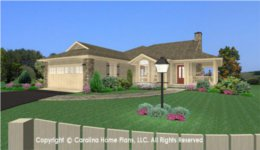 SG-1275 Narrow Lot House Plan