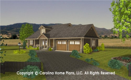 SG-1340 Sophisticated Rustic House Plan