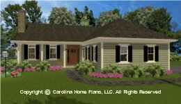 SG-1574 Narrow Lot Houseplan