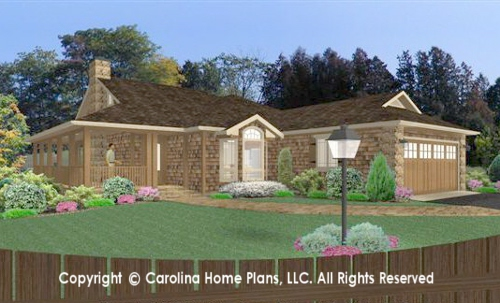 SG-1595 Sophisticated Rustic House Plan