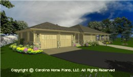 SG-1677 House plan with Garage