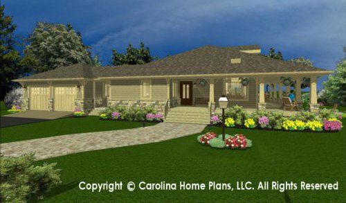 SG-1677 Sophisticated Rustic House Plan