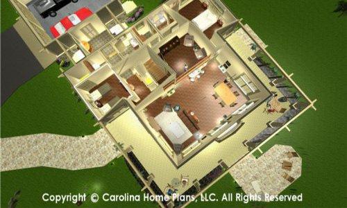 SG-1677 Split Bedroom House Plan