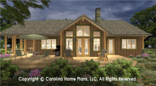 SG-1688 Sophisticated Rustic House Plan
