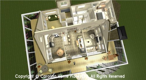 SG-947 Split Bedroom House Plan