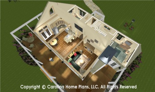 SG-980 Split Bedroom House Plan