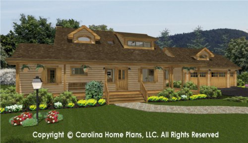 SM-1568 Sophisticated Rustic House Plan
