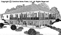 SP-3581 Sloped Lot Houseplan