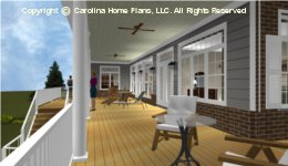 SP-3581 Wrap Around Porch House 