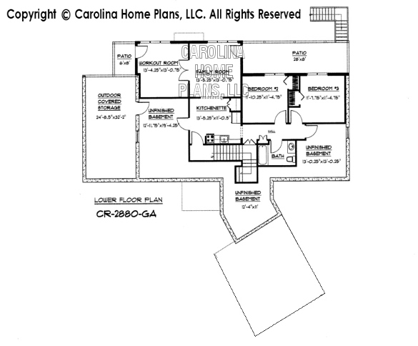 CR-2880 Lower Level Floor Plan