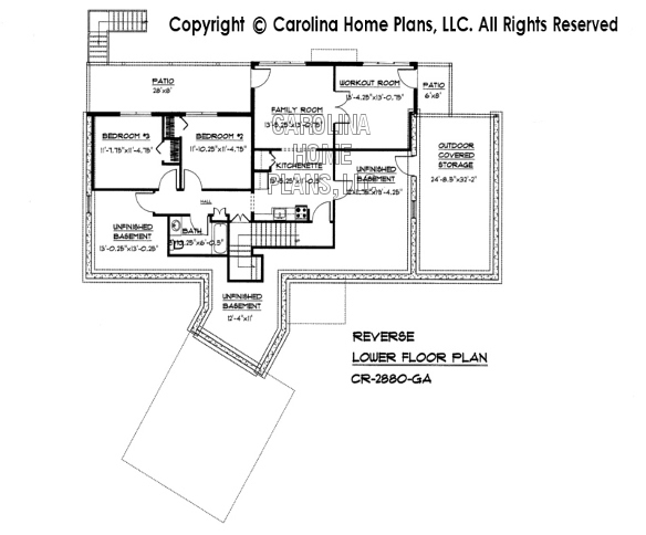 CR-2880 Reverse Lower Level Floor Plan