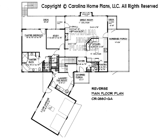 CR-2880 Reverse Main Floor Plan