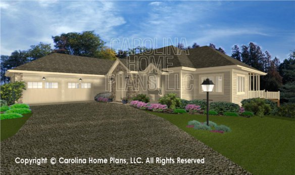 3d images for chp cr 3191 ga elegant contemporary ranch for Cost to build a house in georgia