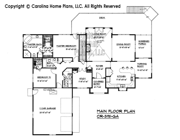CR-3191 Main Floor Plan