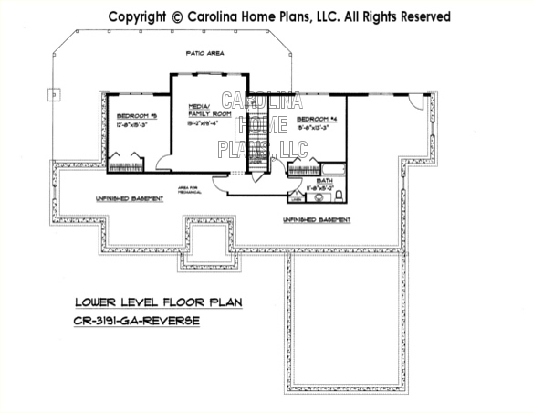 CR-3191 Reverse Lower Level Floor Plan
