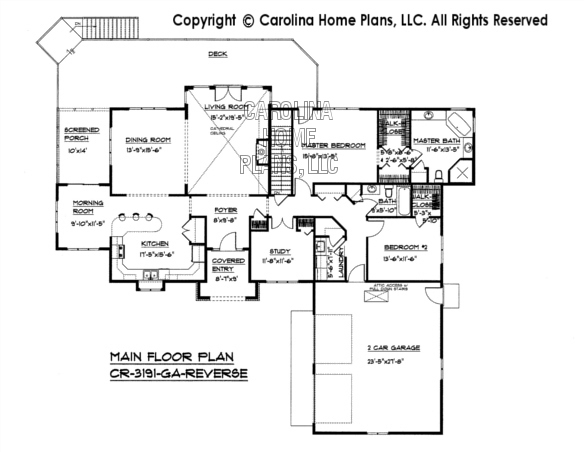 CR-3191 Reverse Main Floor Plan