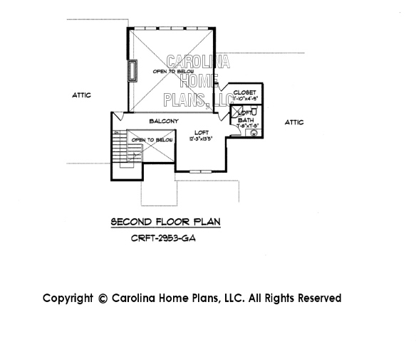 CRFT-2953 Second Floor Plan