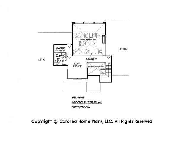 Large craftsman style house plan crft 2953 sq ft luxury for Reverse floor plan