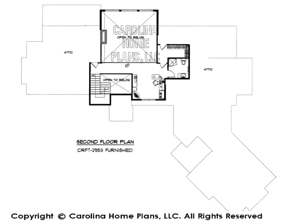 CRFT-2953-GA Furnished 2nd Floor Plan