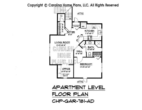 Large craftsman house plan chp lg 2715 ga sq ft large for Large apartment floor plans