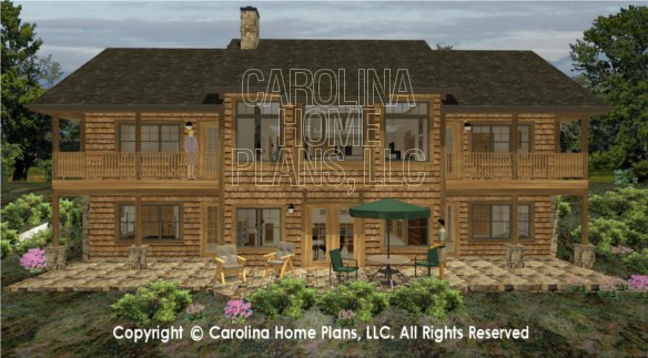 3d images for chp lg 2810 ga large craftsman 3d house for House plans with large porches