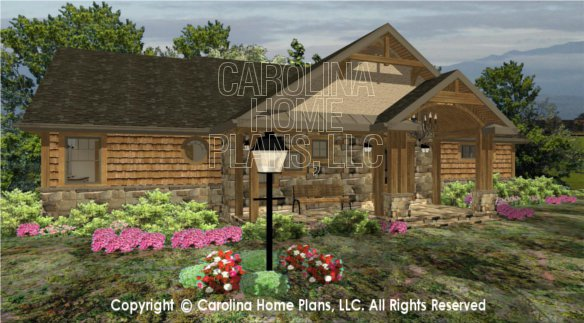 3d images for chp lg 2810 ga large craftsman 3d house for Big front porch house plans