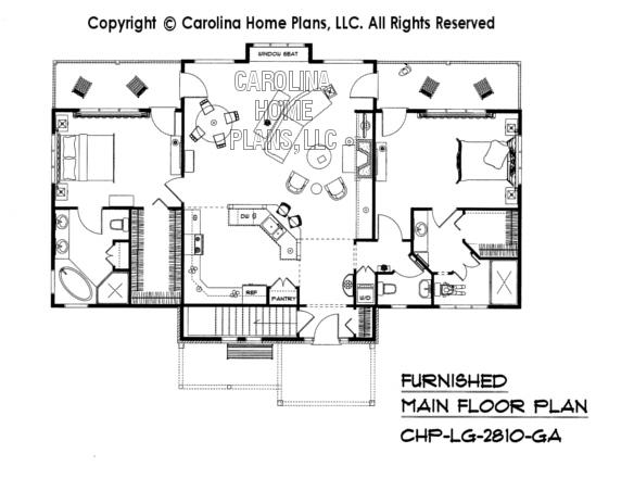 LG-2810-GA Furnished Main Floor Plan