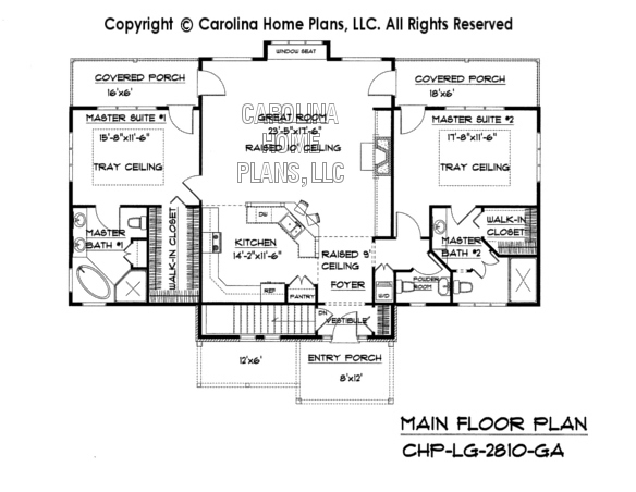 Pdf file for chp lg 2810 ga large craftsman home plan 2800 square foot house plans