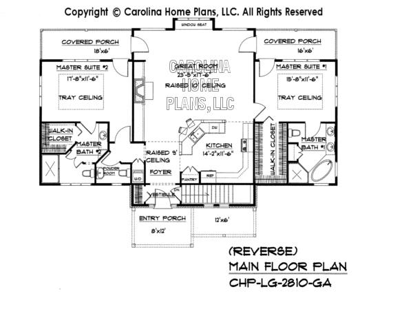 LG-2810 Reverse Main Floor Plan