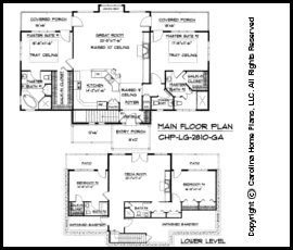 Large Craftsman House Plan CHP-LG-2810-GA Sq Ft | Large Craftsman ...