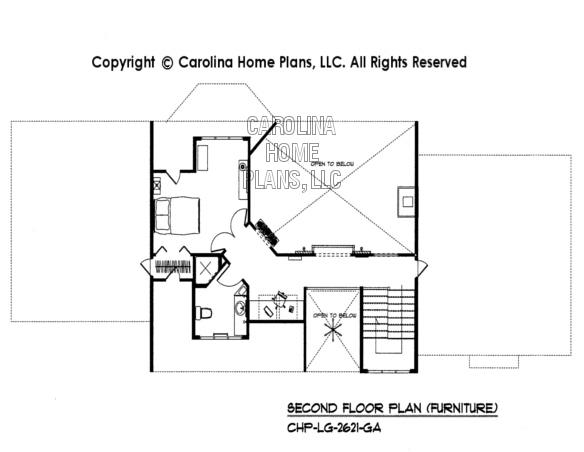 LG-2621-GA Furnished 2nd Floor Plan