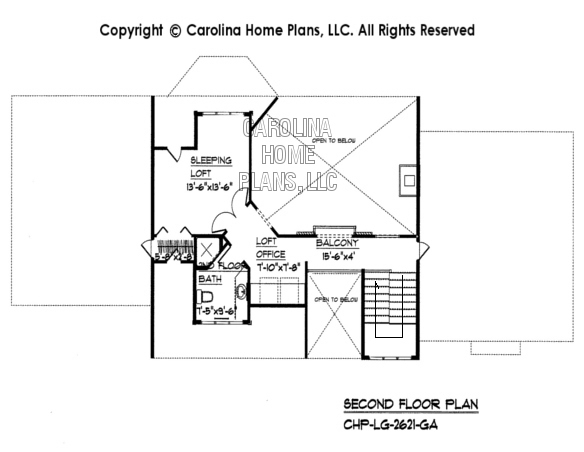 Large Open Floor House Plan Chp Lg 2621 Ga Sq Ft Large Open Floor Home Plan Over 2600 Square Feet