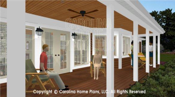 LG-2621 3D Back Porch View