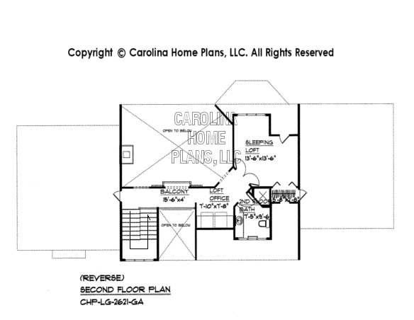 LG-2621 Reverse 2nd Floor Plan