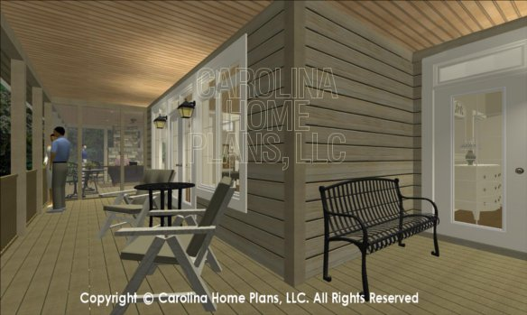 LG-2715 3D Covered Porch to Screened Porch