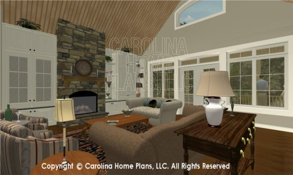 LG-2715 3D Great Room To Fireplace