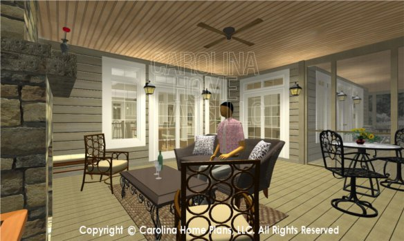 LG-2715 3D Screened Porch to Dining
