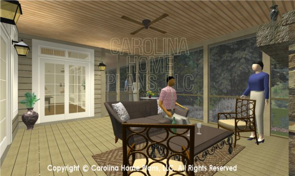 LG-2715 3D Screened Porch to Great Room