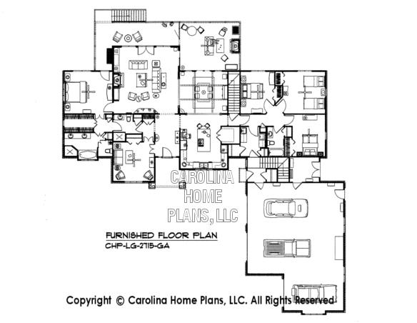 LG-2715-GA Furnished main Floor Plan