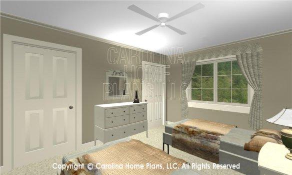 LG-2715 3D Apartment Bedroom to Closet